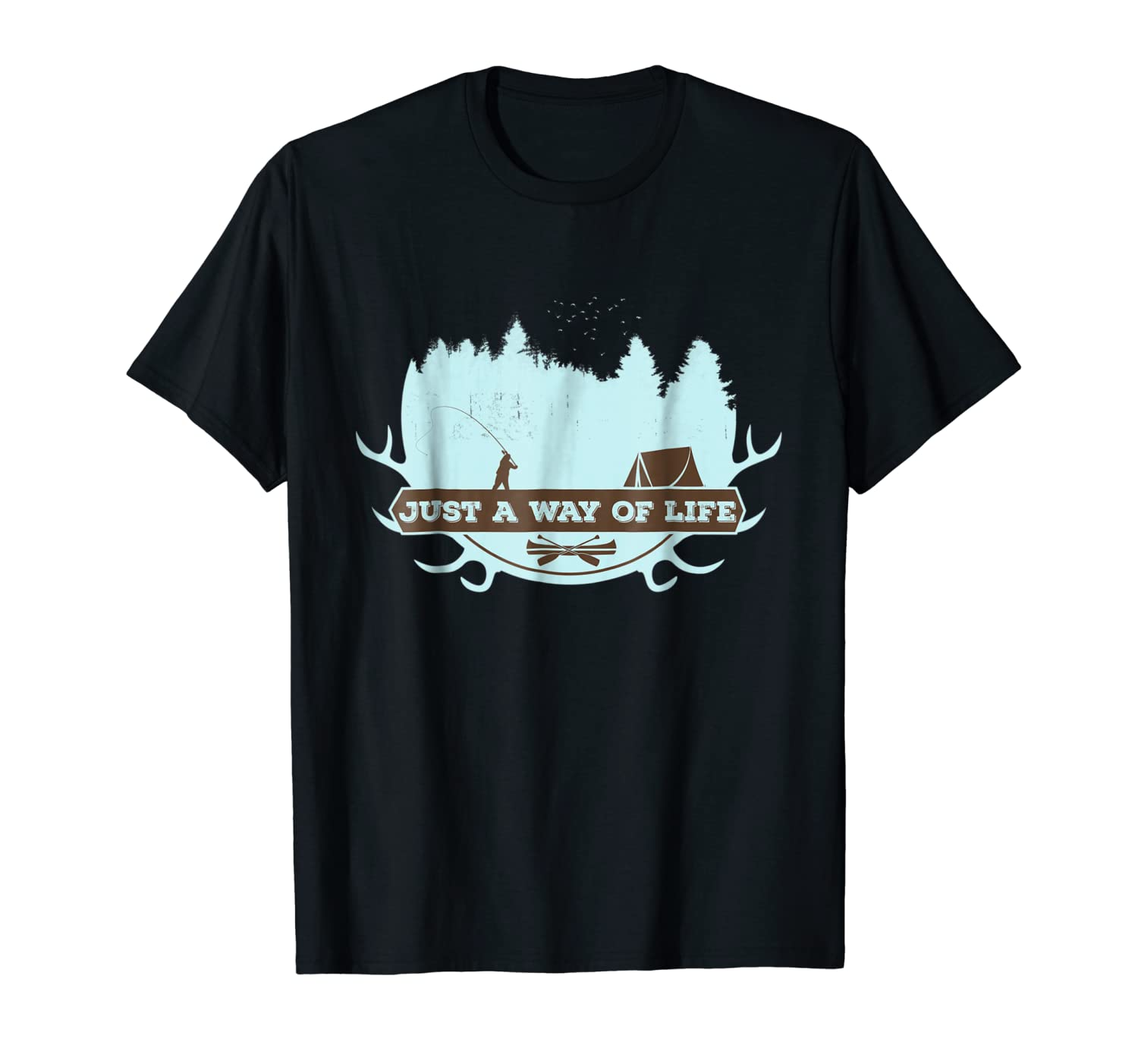 camp-life-shirt-women kids outdoor camping the hate hunting