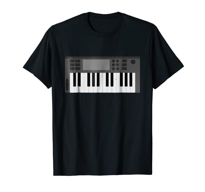 Keyboard Synth Tee Shirt for music technology musician fans