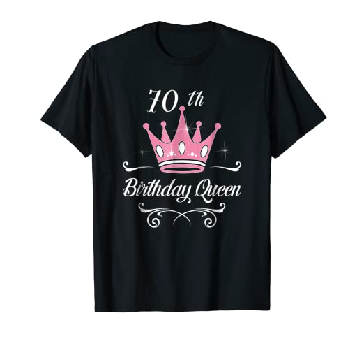 amazon com 70th birthday queen ladies gifts 70 years old lady fun
