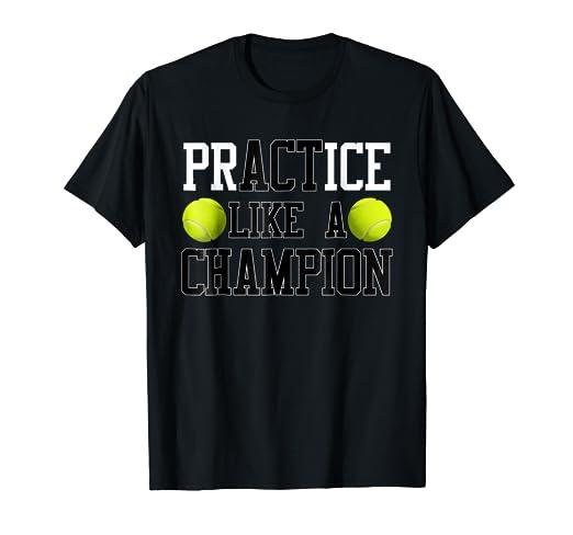 124728708002 Amazon.com  PrACTice Like A Champion Tennis T-Shirt Boys