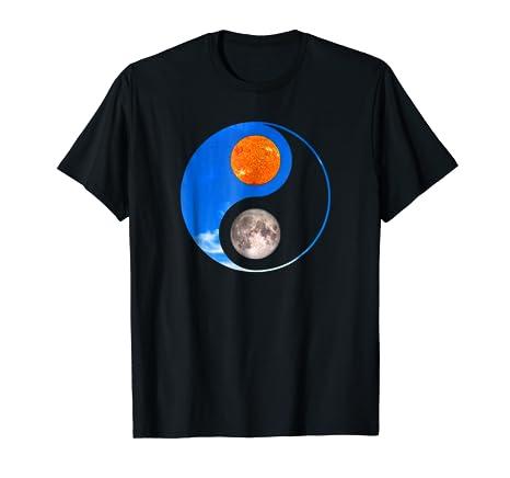 Amazoncom Yin Yang Moon Sun T Shirt Taoism Symbol Clothing
