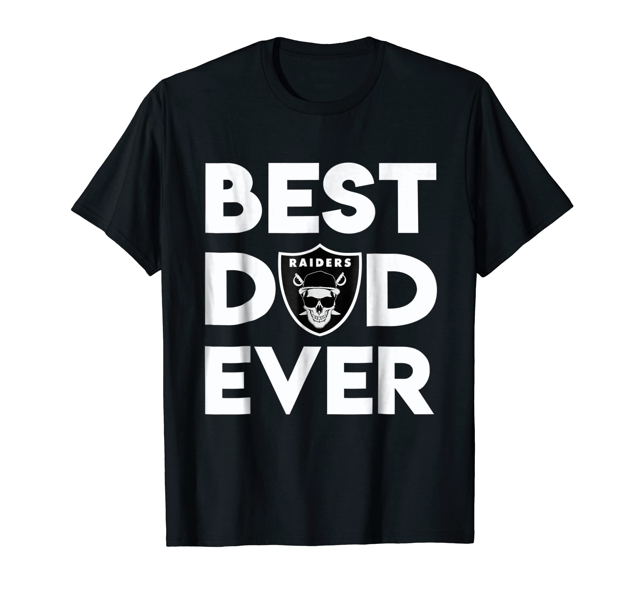 ff69b645 Mens Best Raiders Dad Ever T-Shirt Father's Day Gift – Paramatee