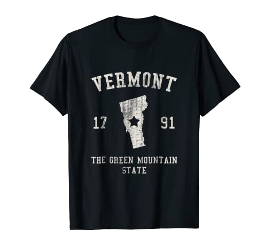 9a10d0c9ed89f Vermont The Green Mountain State Vintage T-shirt