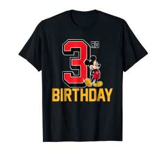 6ad45fe26 Image Unavailable. Image not available for. Color: Disney Mickey Mouse My  3rd Birthday T-shirt