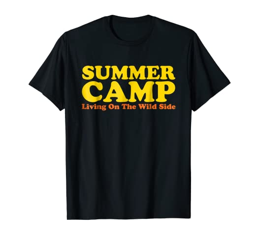 26c5d3349d15 Image Unavailable. Image not available for. Color  Retro Summer Camp T-Shirt.  70s 80s Vintage Camping Tshirt