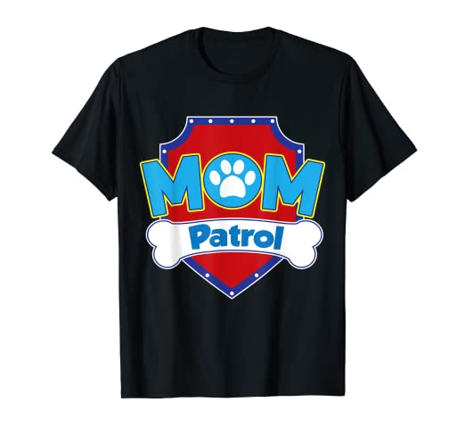 723e86b7 Image Unavailable. Image not available for. Color: Funny Mom Paw Patrol Dog Mom  T-Shirt