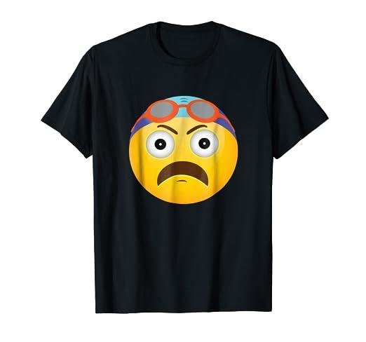 Amazoncom Swim Emoticon Upset Face Girl Swimmer Gift T Shirt Clothing