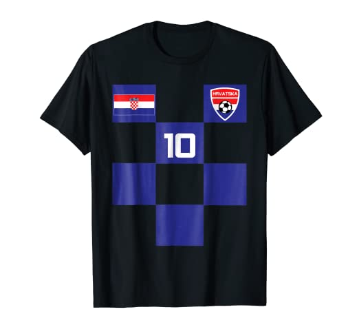 3256041ce Image Unavailable. Image not available for. Color: Croatia Jersey Shirt  Soccer Black Blue Men ...