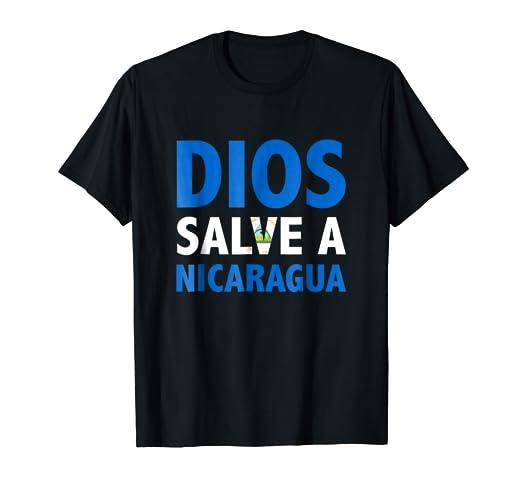 Camisetas Nicaragua Dios Salve a Nicaragua Flag Shirt