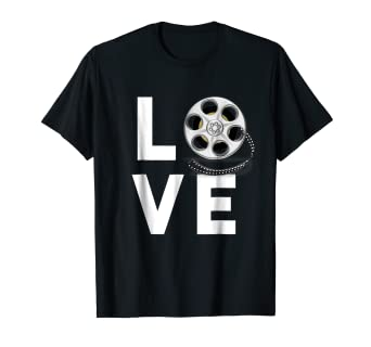 Amazoncom I Love Movies T Shirt Gifts For Film Lovers Students