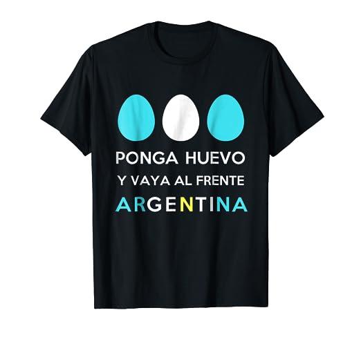 Remera Futbol Seleccion Argentina - Ponga Huevo