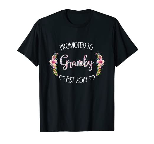 Amazon com: Promoted To Gramby Est 2019 Mother's Day T-Shirt