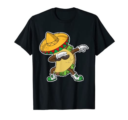 a3709c5201e Image Unavailable. Image not available for. Color  Dabbing Taco T-Shirt  Cinco De Mayo Mexico Latino Food