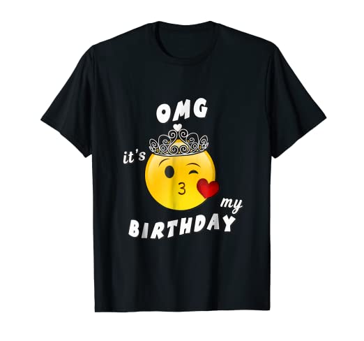 Image Unavailable Not Available For Color Omg Its My Birthday Emoji Gift Shirt