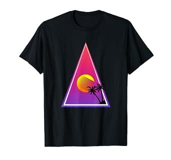 e8c1e213cf48 Amazon.com: Retro Wave Sunset T-Shirt. Vaporwave retro futurism ...