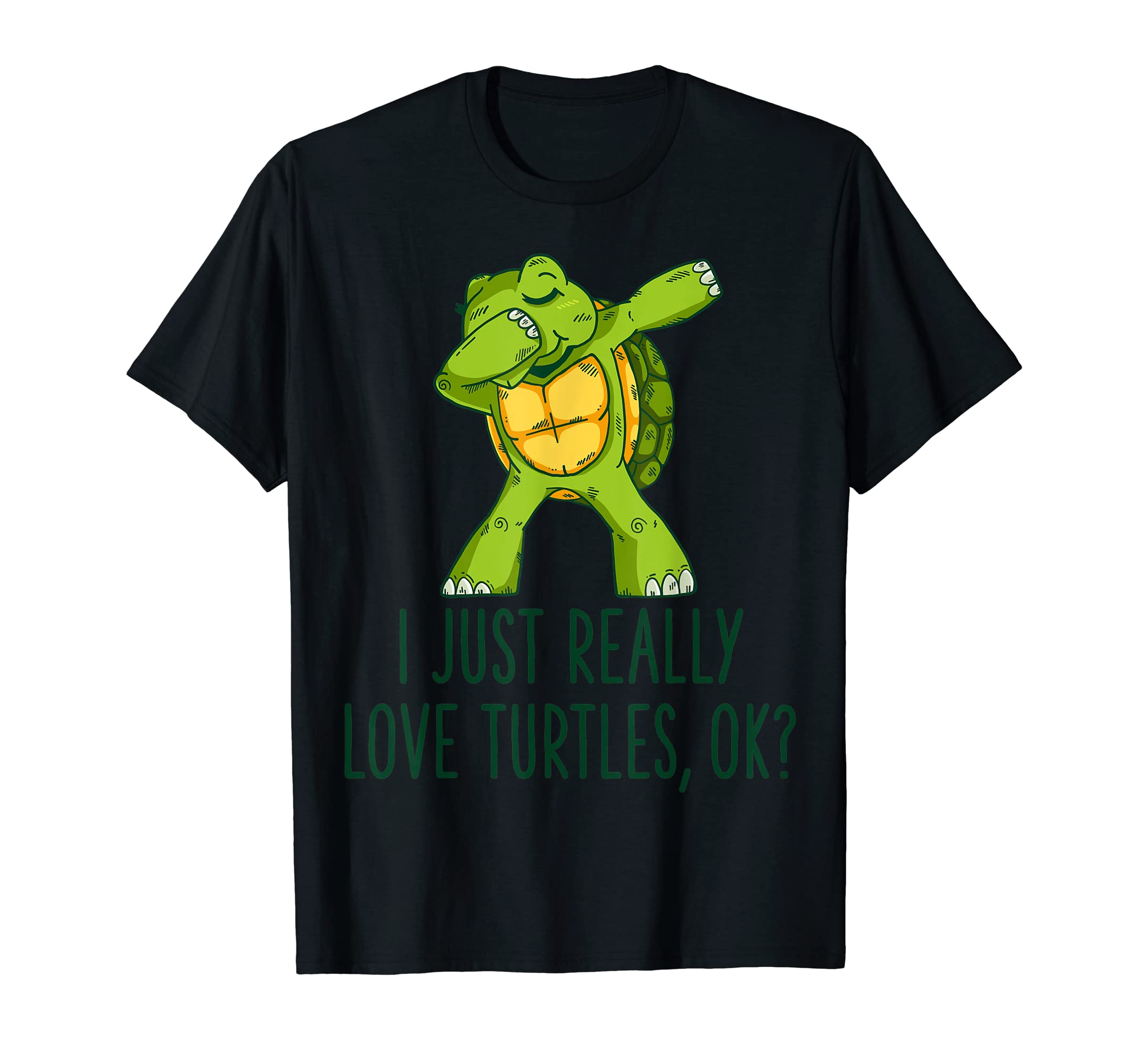 I Just Really Like Turtles Shirt Turtle Lover Gift for Kids-Men's T-Shirt-Black
