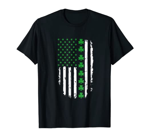 3fcabebb2 Image Unavailable. Image not available for. Color: St. Patrick's Day Irish  American Flag Shirt
