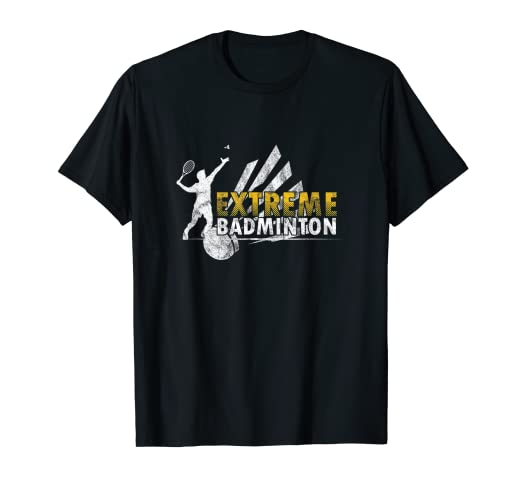 56efc472 Image Unavailable. Image not available for. Color: Extreme Badminton Player  Sports Tournament T-Shirt