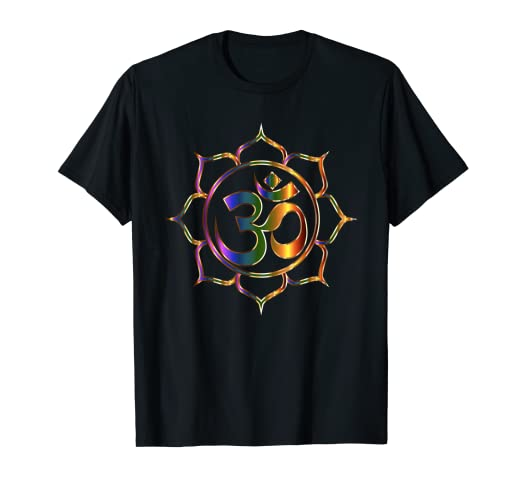a7cefce57 Image Unavailable. Image not available for. Color: Namaste T-Shirt Om  Sanskrit Symbol Lotus Buddha ...