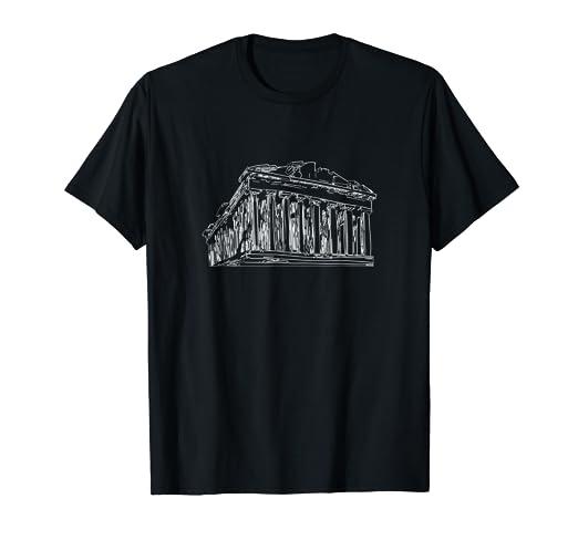 Amazon.com  Parthenon Acropolis Of Athens Athens Greece T-Shirt Tee ... 31f3eecbe86
