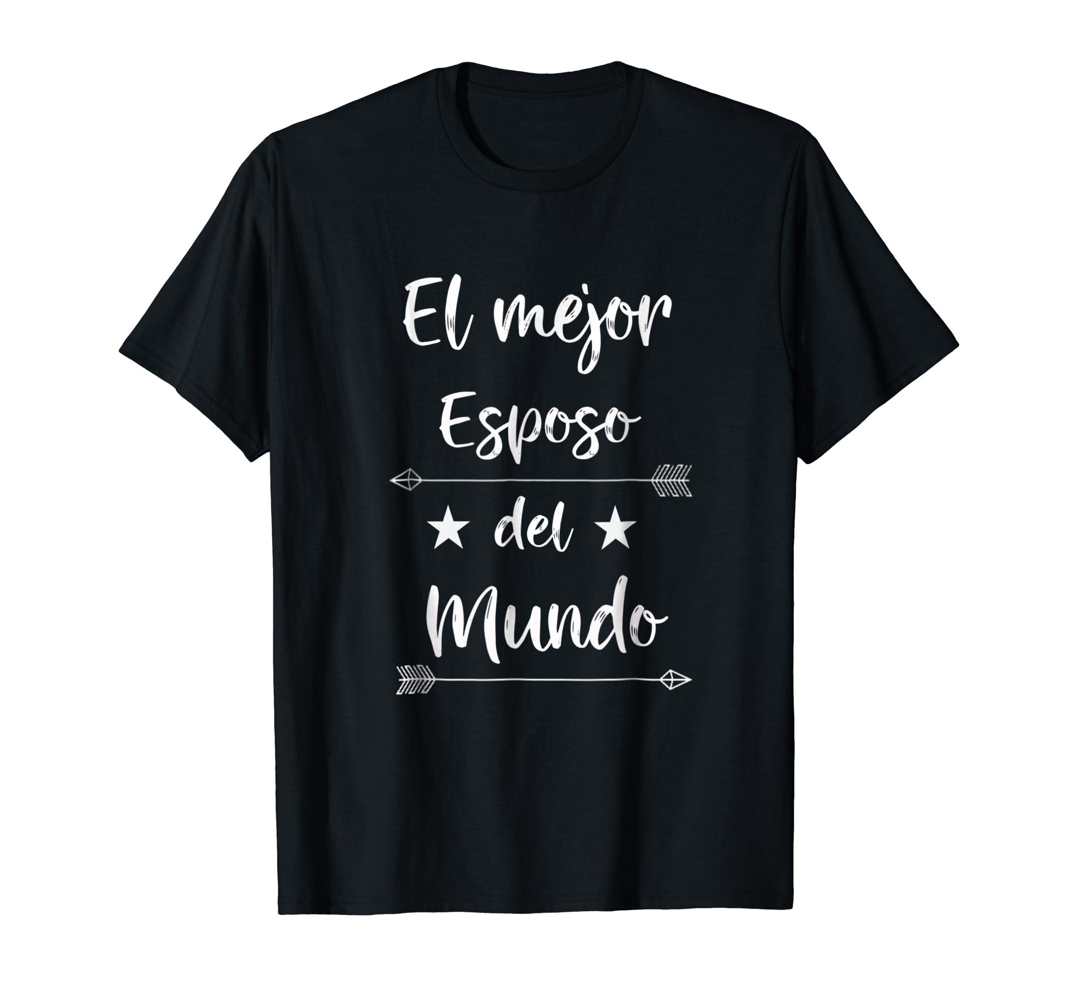 El Mejor Esposo del Mundo Shirt Spanish-Best Husband Tee-Men's T-Shirt-Black