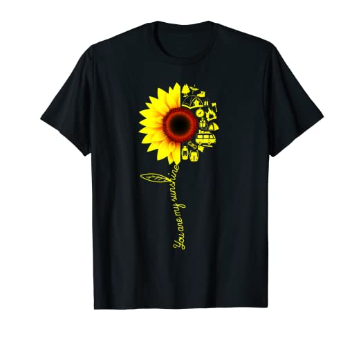 8093f6492ada0 Image Unavailable. Image not available for. Color: You Are My Sunshine  Option Camping Mixed Sunflower Shirt