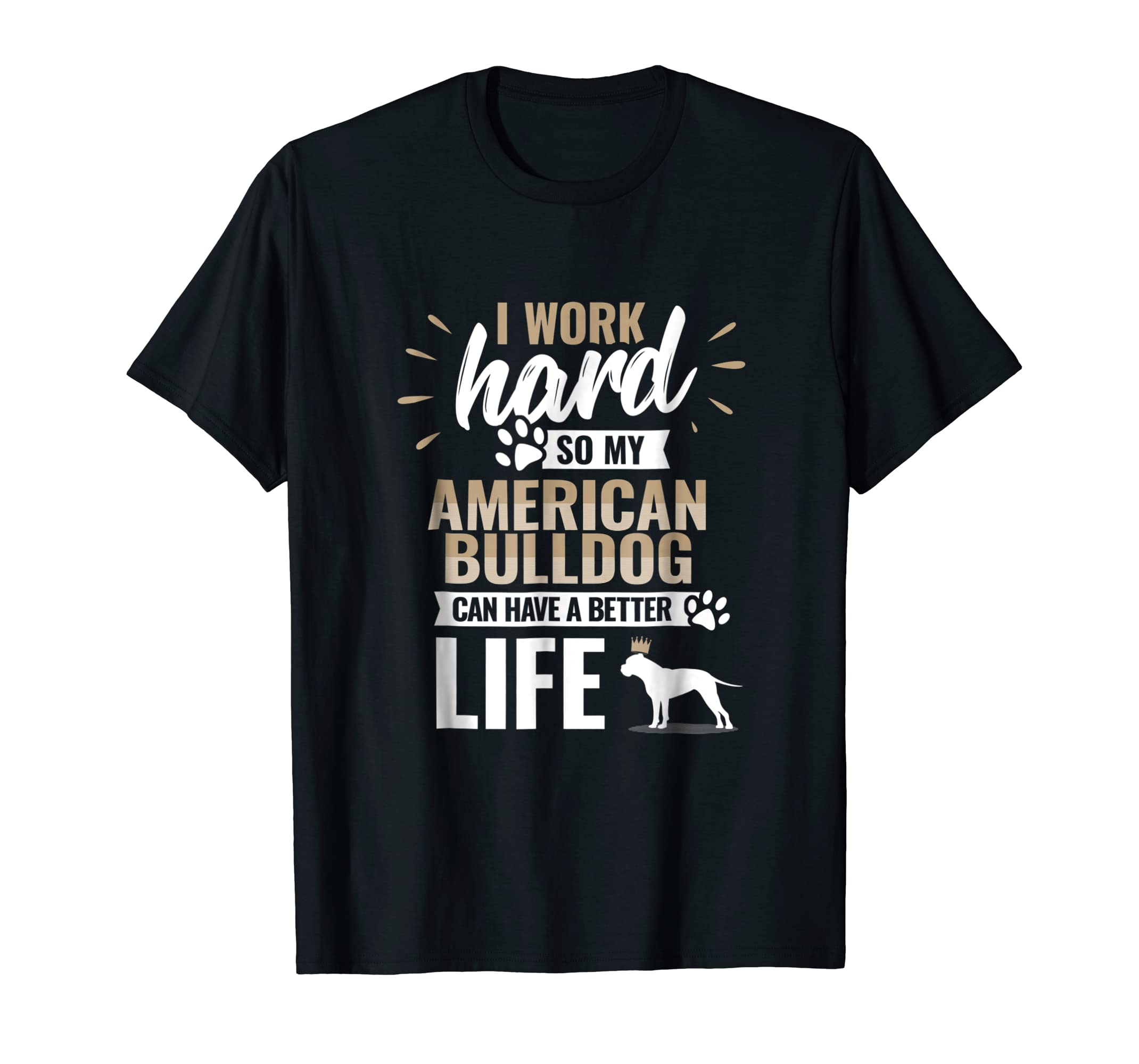 Cool Dog T-Shirt American Bulldog Owner Gift-Men's T-Shirt-Black