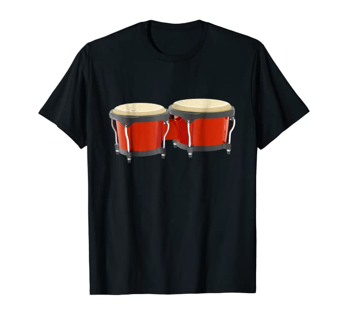 Traditional Bongos Tee Shirt for fans of salsa percussion
