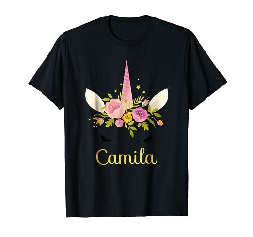 Amazon Camila Unicorn Name Happy Birthday Girl Bday Party T