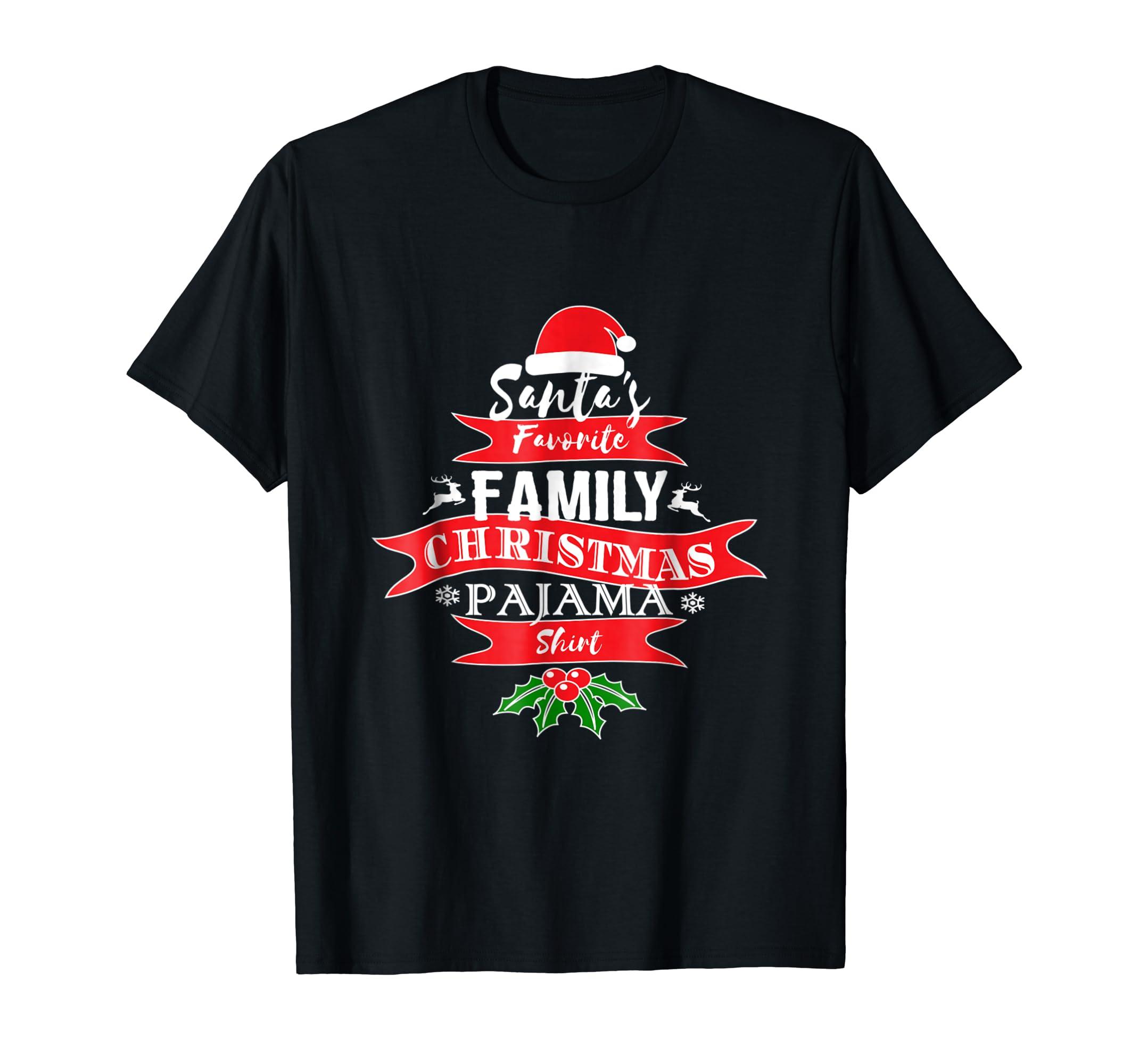 783e5ea956 Amazon.com  Funny Christmas Pajama for Family Short Sleeve Xmas Shirt   Clothing