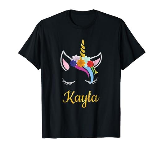 b2bce905c Amazon.com: Kayla Unicorn Name Shirt for Kayla: Clothing