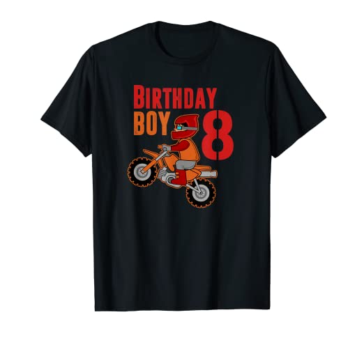 Amazon Birthday Boy 8 Year Old Dirt Bike Shirt