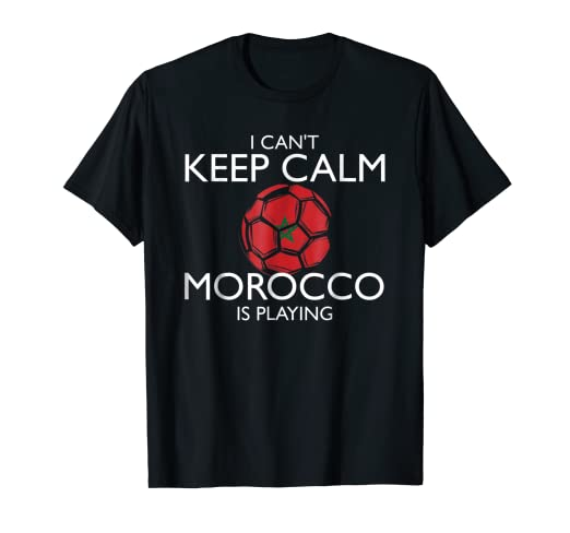 e724a2618f5 Image Unavailable. Image not available for. Color: Morocco Football Jersey  2018 Moroccan Soccer T-Shirt