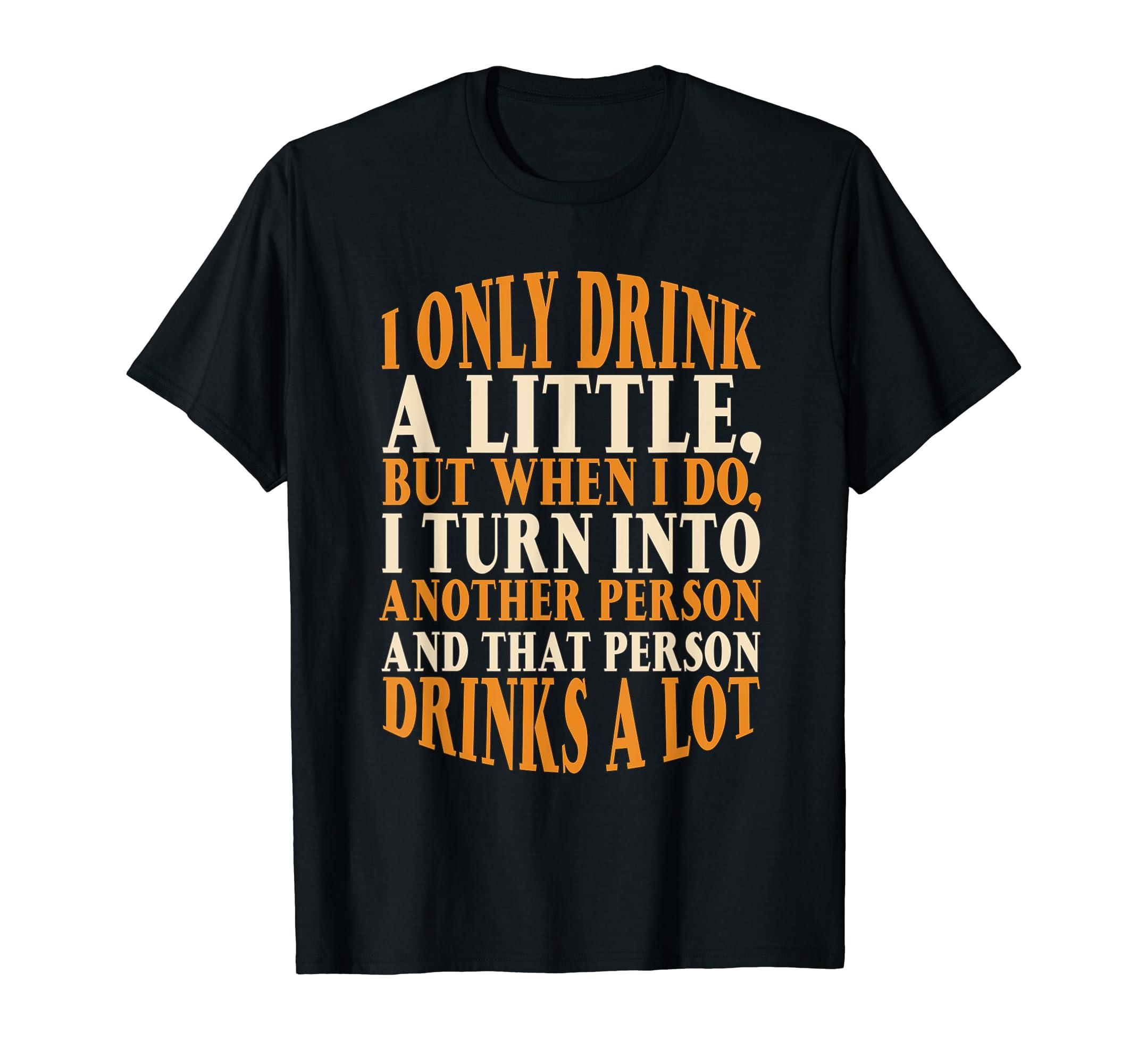 Drink A Little Drinks A Lot Beer Drinking Gift T-Shirt-Men's T-Shirt-Black