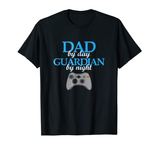 af34ef598f Amazon.com  Mens Dad By Day Guardian By Night Gamer Gaming Geek ...
