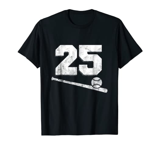11ed9c548 Image Unavailable. Image not available for. Color  Vintage Baseball Jersey  Number 25 T-Shirt Player Number