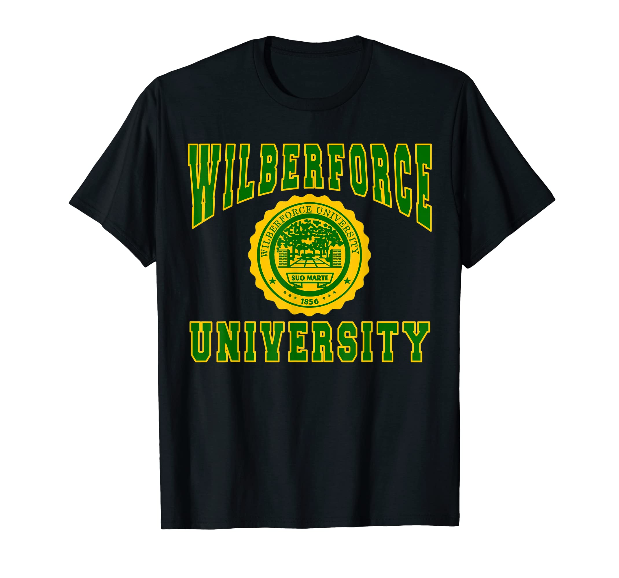 Wilberforce 1856 University Apparel - T shirt-Men's T-Shirt-Black
