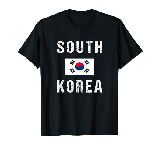 Amazon com: South Korea T-shirt S Korean Flag - For Men