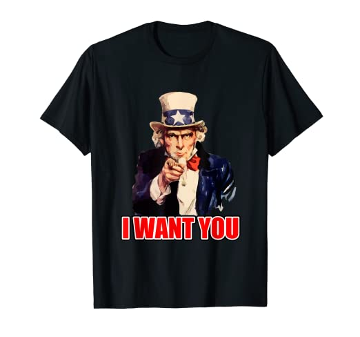79708fd4 Amazon.com: I Want You Uncle Sam T Shirt Vintage: Clothing