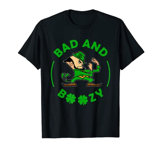 7fc469caa Image Unavailable. Image not available for. Color: Bad and Boozy T-Shirt  Funny Saint Patrick Day ...