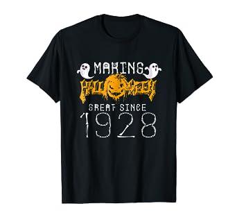 Happy 90th Birthday Gift Ideas Halloween Costume 1928 Shirt