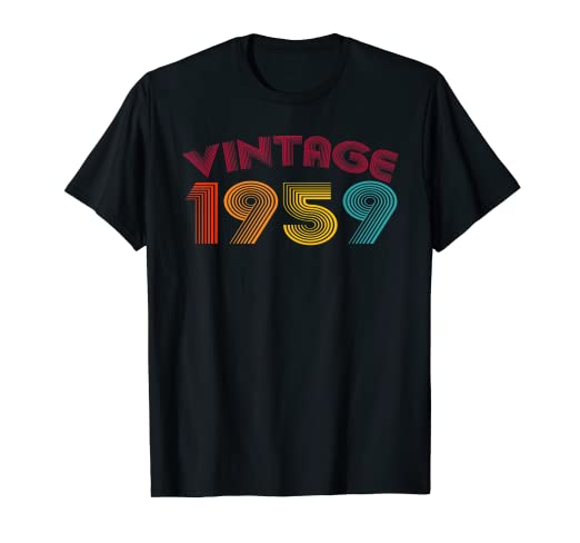 Amazon Vintage 1959 T Shirt 60th Birthday Gift Ideas Uncle