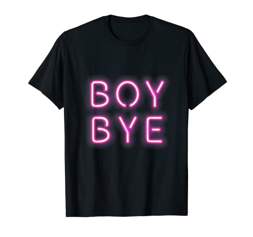 62d07f94a Image Unavailable. Image not available for. Color: Boy Bye Neon Letters  Sign Millenial Pink Graphic Tee T Shirt
