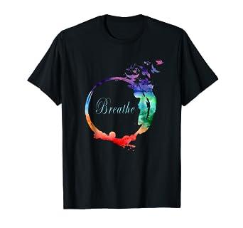 d970dc3f3033 Amazon.com: Breathe Shirt - Heavenly Breath with Nature Yoga Tee ...