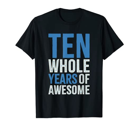 Image Unavailable Not Available For Color 10th Birthday Shirt Gift Boy Age 10 Ten Year Old