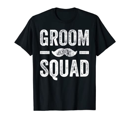 e5829f6c Image Unavailable. Image not available for. Color: Mens Groom Squad T-Shirt  - Bachelor Party Groomsmen ...