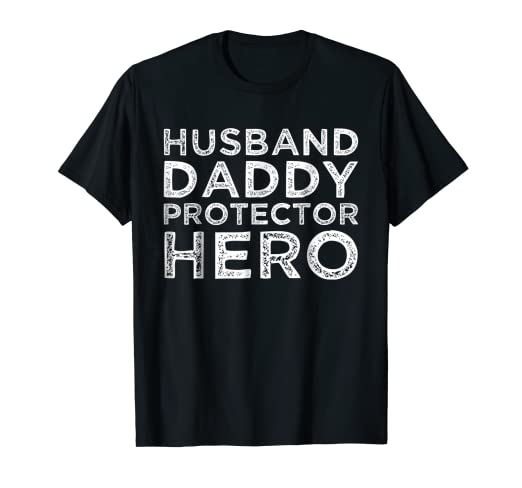 586ca4e60 Image Unavailable. Image not available for. Color: Mens Husband Daddy  Protector Hero Shirt Dad Gifts Tshirts