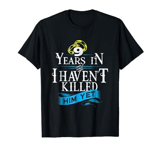 Amazon.com: 9 Years Anniversary Gift Idea for Her/Him Tshirt 9th ...