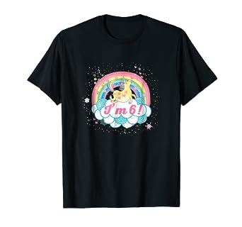 2c6da5b1 Amazon.com: 6th Birthday Shirt Cute Girls Rainbow Unicorn Party T ...