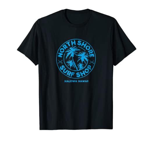 0cbdce3e91 Amazon.com: North Shore Surf Shop Retro T-shirt_blue: Clothing
